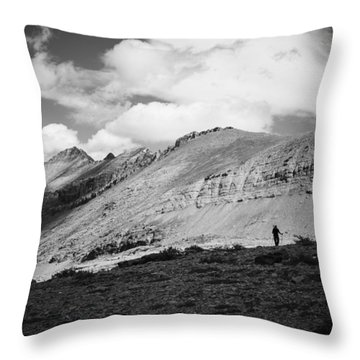 Solitude Below Sperry Glacier Throw Pillow