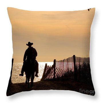 Solitude Throw Pillow by Carol Lynn Coronios