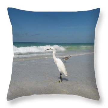 Throw Pillow featuring the photograph Solitude by Jean Marie Maggi