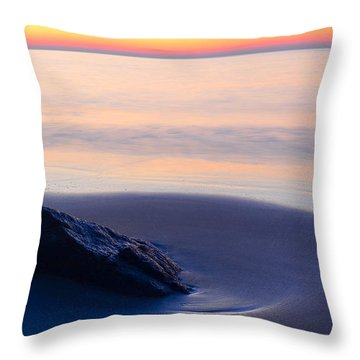 Throw Pillow featuring the photograph Solitude Singing Beach by Michael Hubley