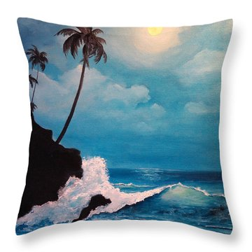 Solitude Of The Night Throw Pillow