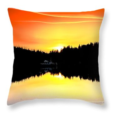 Solitude Throw Pillow by Robert Bales