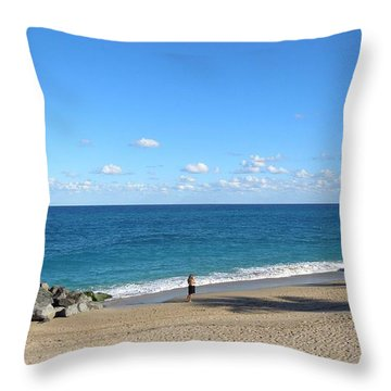 Throw Pillow featuring the photograph Solitude by Ron Davidson
