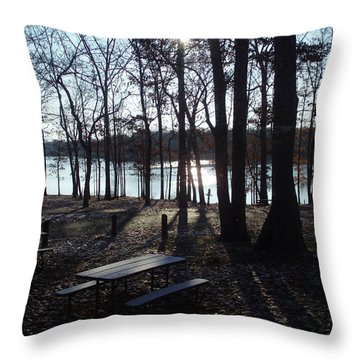 Throw Pillow featuring the photograph Solitude by Fortunate Findings Shirley Dickerson