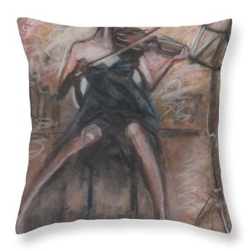 Solo Concerto Throw Pillow by Jarmo Korhonen aka Jarko