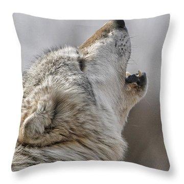 Solo Song II Throw Pillow