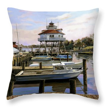 Solomon's Island Throw Pillow