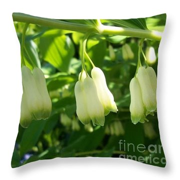 Throw Pillow featuring the photograph Solomon's Seal by Jolanta Anna Karolska