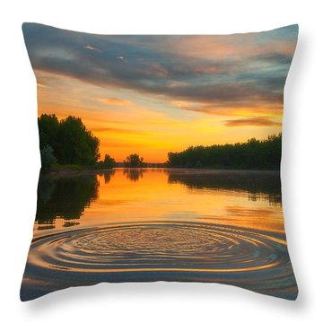Solstice Ripples Throw Pillow