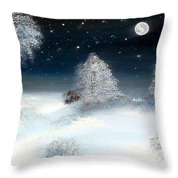 Solstice Snowfall I Throw Pillow by Alys Caviness-Gober