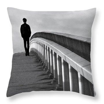 Somber Stroll Throw Pillow