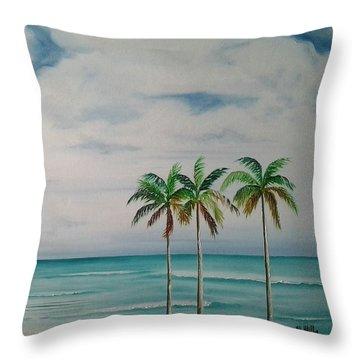 Some Beach Somewhere Throw Pillow