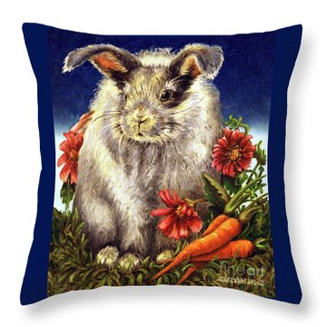 Some Bunny Is A Fuzzy Wuzzy Throw Pillow by Linda Simon