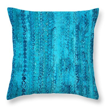Some Call It Rain Original Painting Throw Pillow
