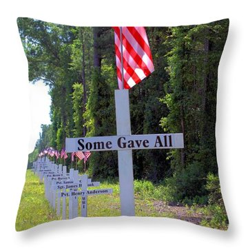 Throw Pillow featuring the photograph Some Gave All by Gordon Elwell