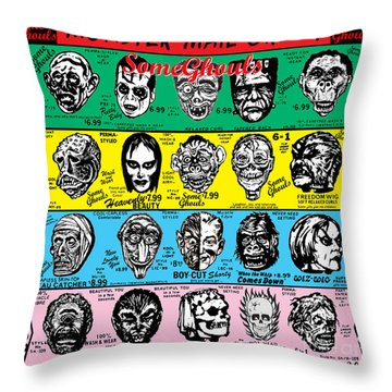 Throw Pillow featuring the digital art Some Ghouls by Sasha Alexandre Keen