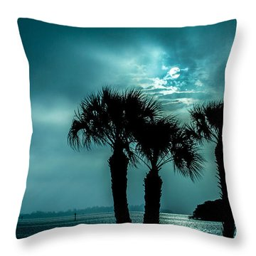 Some Kind Of Blue Throw Pillow