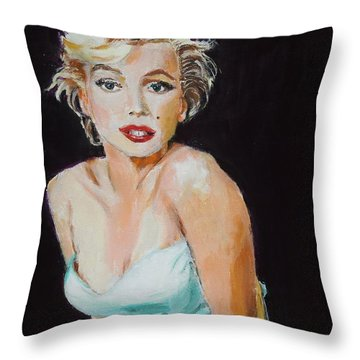 Throw Pillow featuring the painting Some Like It Hot by Judy Kay
