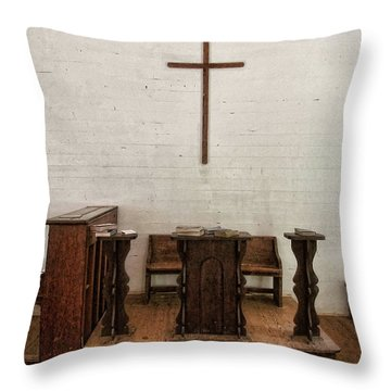Some Of That Old Time Religion Throw Pillow by Victor Montgomery
