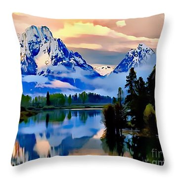 Some Place Some Where Throw Pillow