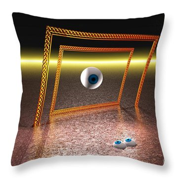Throw Pillow featuring the digital art Somebody's Watching Me by Jacqueline Lloyd