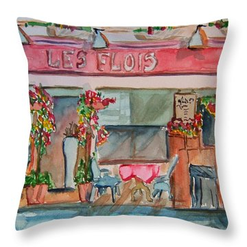 Someplace French Throw Pillow