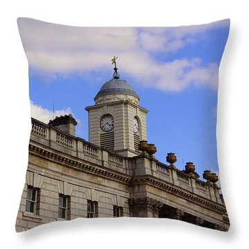 Somerset House Throw Pillow by Nicky Jameson