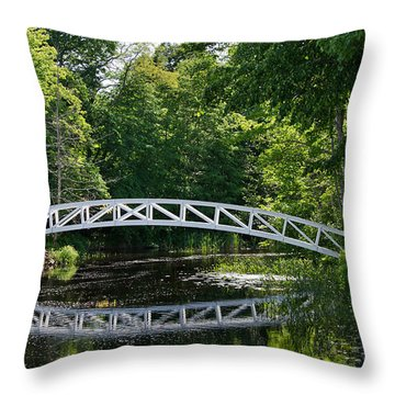 Somesville Bridge Throw Pillow