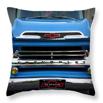 Something Bout A Truck Throw Pillow by Laurie Perry