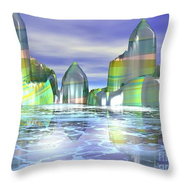 Something Colorful Throw Pillow by Jacqueline Lloyd