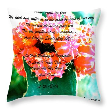 Throw Pillow featuring the photograph Something Inside Looking Out by Lorna Maza
