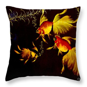 Something Is Fishy Here Throw Pillow by Al Bourassa