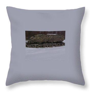 John Hinker's Coal Dock. Throw Pillow