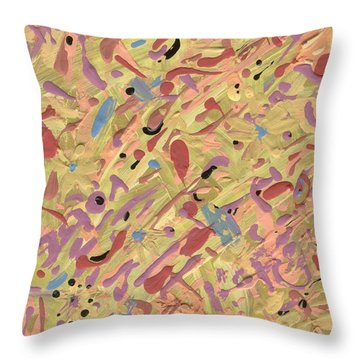 Throw Pillow featuring the painting Something Like That But Different Than You'd Think by Yshua The Painter