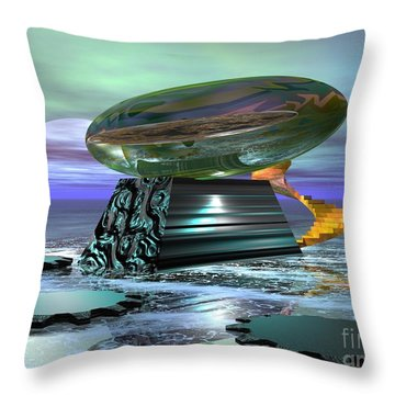 Throw Pillow featuring the digital art Something Shiny by Jacqueline Lloyd