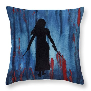 Something Wicked This Way Comes Throw Pillow by Jim Stark
