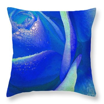 Throw Pillow featuring the photograph Sometimes Blue by Everette McMahan jr