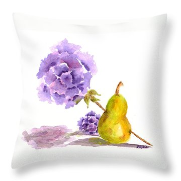 Throw Pillow featuring the painting Sometimes Love Hurts by Paula Ayers