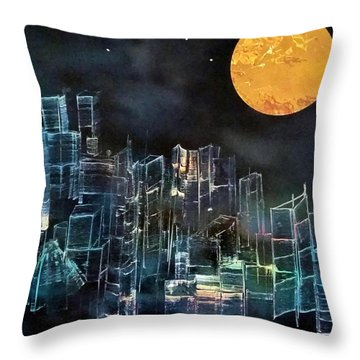 Sometimes Things Look Better In The Dark Throw Pillow