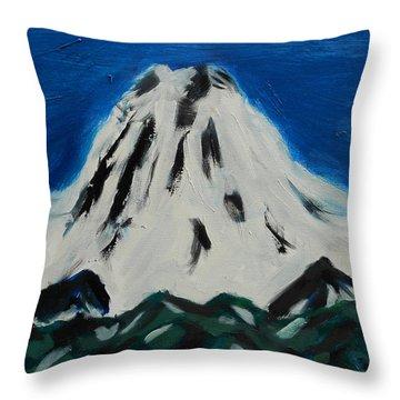 Somewhere Rainier Throw Pillow