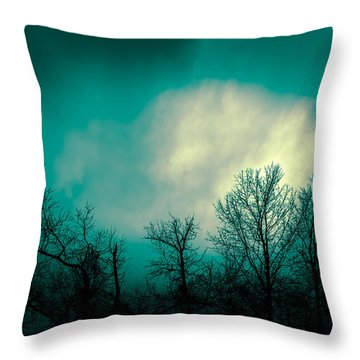 Somewhere Between Here And There Throw Pillow by Bob Orsillo