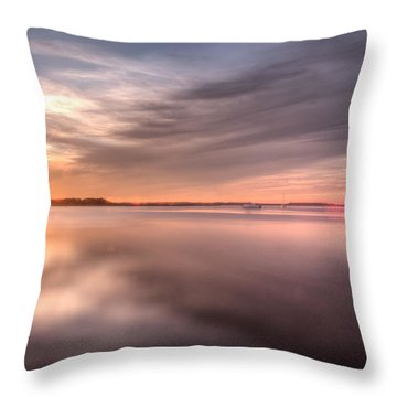 Somewhere Between That Setting Sun Throw Pillow by Wade Brooks