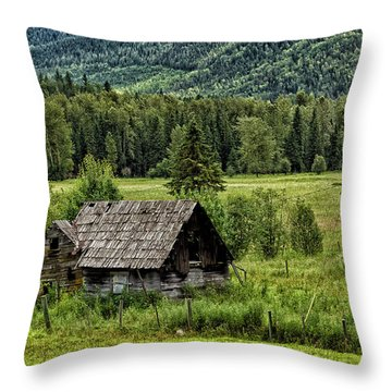 Somewhere In Alberta Throw Pillow
