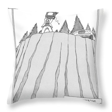 Somewhere In America Throw Pillow