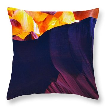 Throw Pillow featuring the photograph Somewhere In America Series - Antelope Canyon by Lilia D