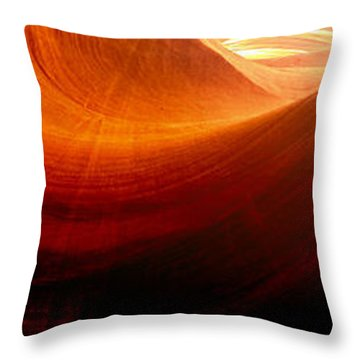 Throw Pillow featuring the photograph Somewhere In America Series - Red Waves In Antelope Canyon by Lilia D