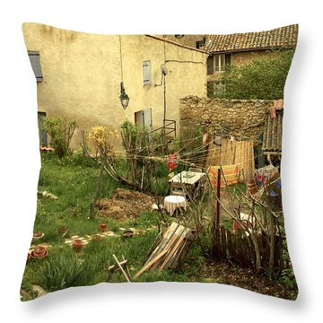 Throw Pillow featuring the photograph Somewhere In France by Colleen Williams