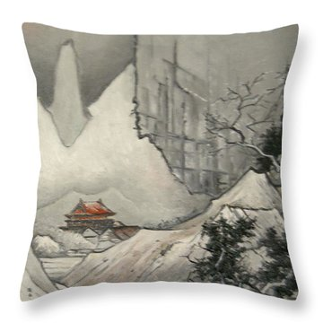 Somewhere In Japan Throw Pillow