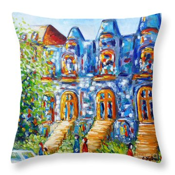 Somewhere In Montreal - Cityscape Throw Pillow