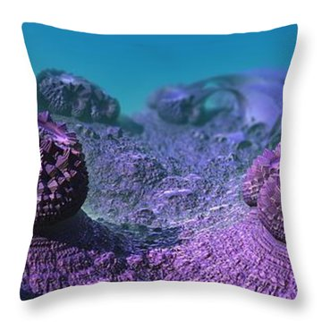 Somewhere In The Coral Sea Throw Pillow
